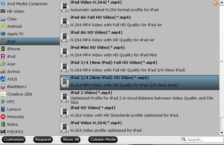 ipad 3 video format