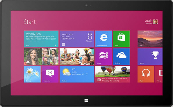 Which file types are supported on Surface 2, Surface Pro 2, Surface RT/Pro?