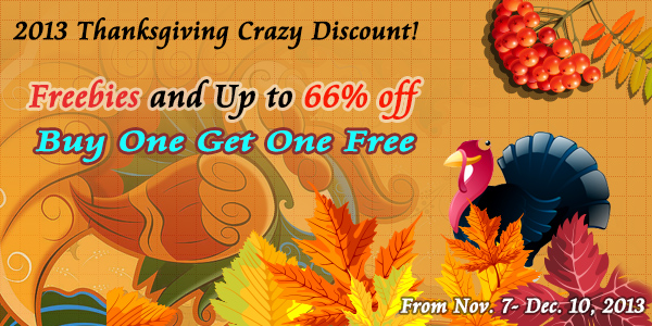 Pavtube Unveiled 2013 Thanksgiving Day Promotion with Giveaway and Huge Discounts!