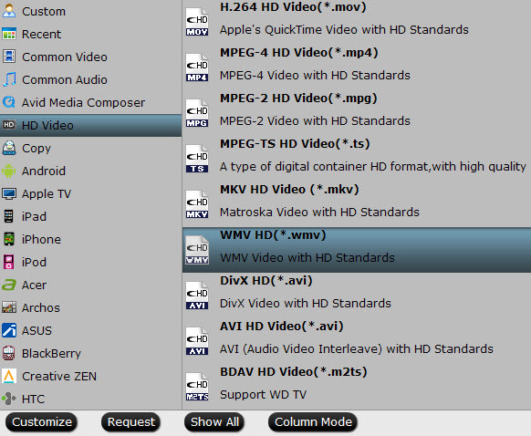 WMV format