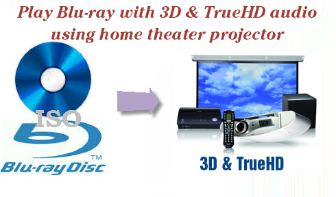 Play Blu-ray with 3D TrueHD audio using home theater projector