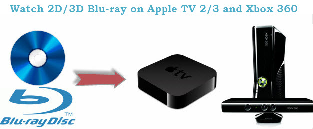 Watch 2D/3D Blu-ray movies on both Apple TV 2/3 and Xbox 360