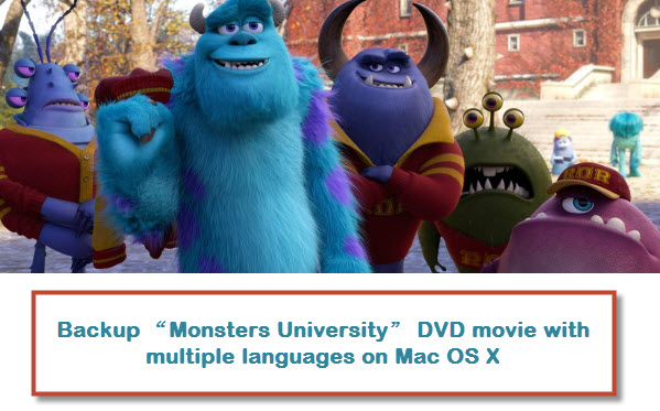 "Backup ""Monsters University"" DVD movie with multiple languages on Mac OS X"