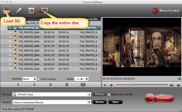 Directly copy Blu-ray to folder put on KDLINKS Media Player Pavtube-bd-magic-for-mac-2