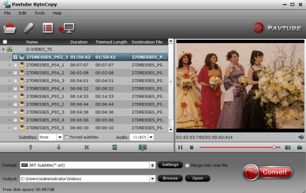 How to extract  srt subtitles from DVD? – ByteCopy for Windows