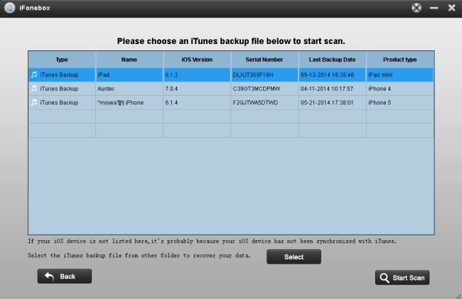 Make it possible to view data when change your iDevice Choose-a-backup1