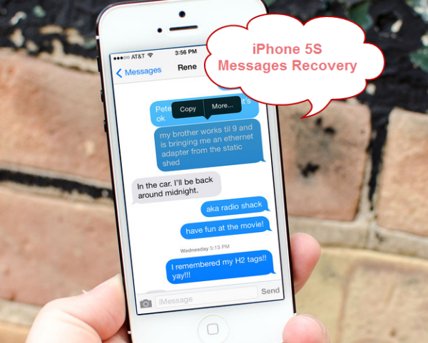 Recover text messages from iPhone 5S with iFonebox