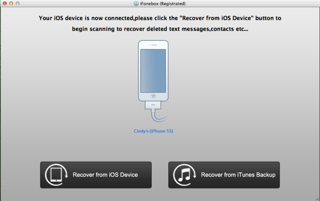 recover text messages from iPhone 5S