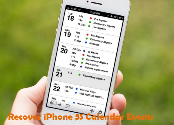 Three methods to recover lost/deleted calendar event on iPhone 5S