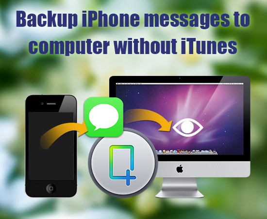 A safe and quick way to backup iPhone messages to computer