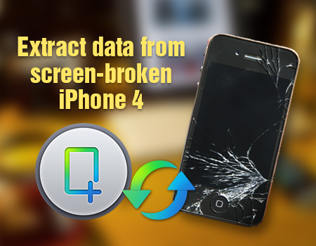 Make Security Copy of screen-broken iPhone 4 Extract-data-from-screen-broken-iphone-4