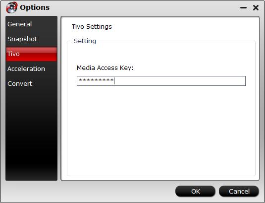 tivo access key