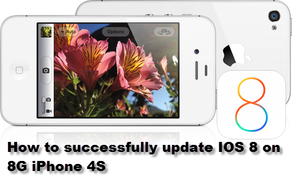 How to successfully update iOS 8 on 8G iPhone 4S