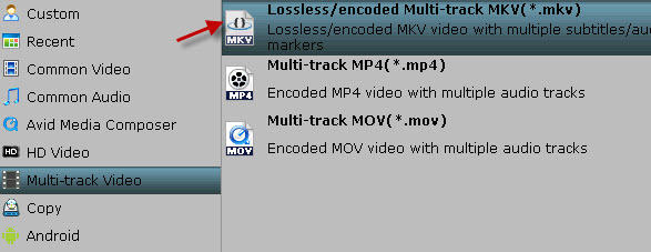 Lossless MKV file
