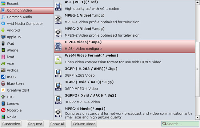 XBMC supported video format