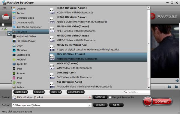 media server video format