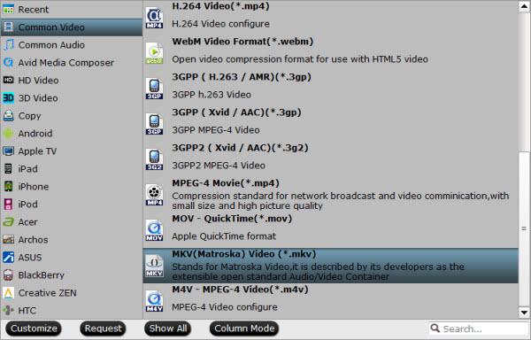 Roku 3 video format