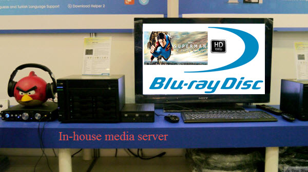 Watching my Blu-ray contents on in-house media server in my living room
