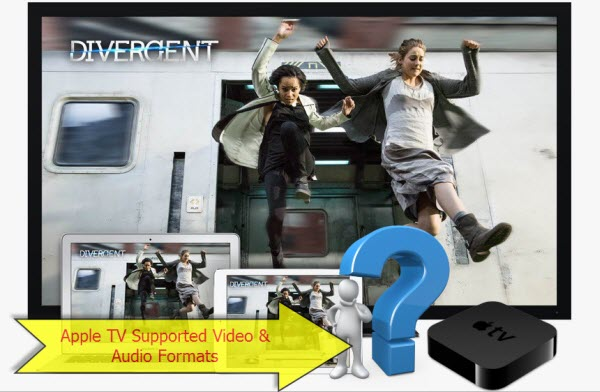 What Audio and Movie formats are supported on Apple TV ?