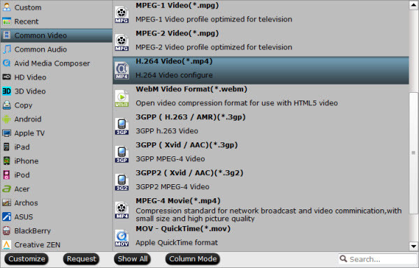 Roku 3 supported output format