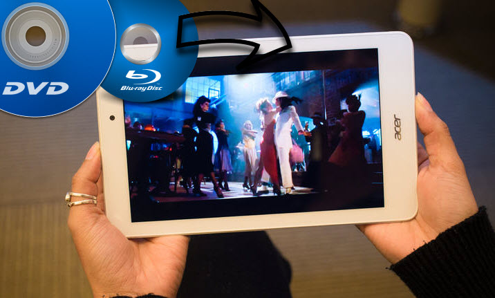 Convert Blu-ray/DVD movies to Acer Iconia Tab 8A1-840FHD