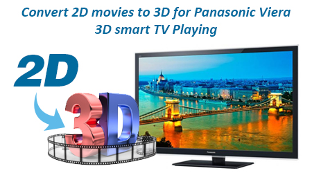 Convert 2D Movies to 3D for Panasonic Viera 3D Smart TV Playing