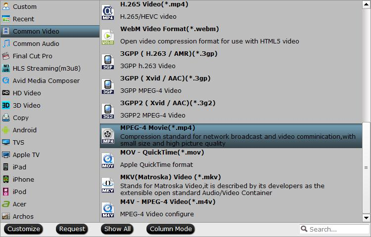 Output DVD to MPEG-4