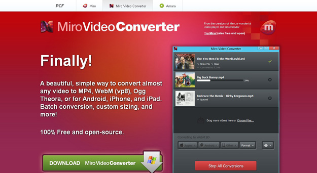 Top 6 Free Miro Video Converter for Mac Alternatives
